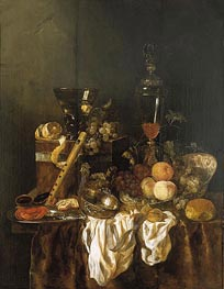 Abraham Beyeren | Still Life with Fruit and Sumptuous Objects, c.1655 | Giclée Canvas Print