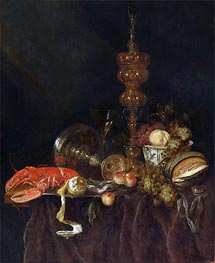 Abraham Beyeren | Still Life with Lobster and Fruit, c.1650/60 | Giclée Canvas Print