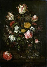 Abraham Beyeren | Still Life with Flowers, 1670 | Giclée Canvas Print