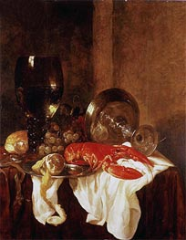 Abraham Beyeren | Still Life with a Lobster, Undated | Giclée Canvas Print