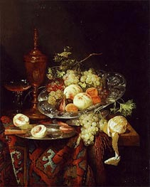 Abraham Beyeren | Still Life with Fruit | Giclée Canvas Print