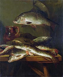 Abraham Beyeren | Still Life with Carp, Undated | Giclée Canvas Print