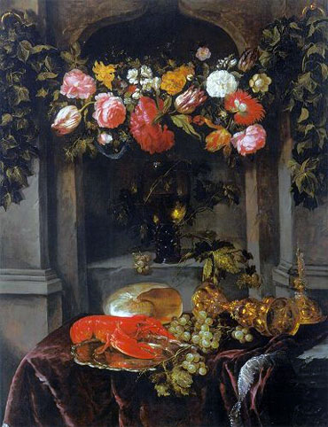 Pronk Still Life (Glorification of Wine), c.1650 | Abraham Beyeren | Giclée Canvas Print