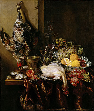 Abraham Beyeren | Still Life with Fowl and Fruits, c.1680 | Giclée Canvas Print