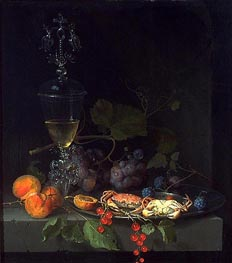 Abraham Mignon | Still Life with Crabs on a Pewter Plate, c.1669/72 | Giclée Canvas Print