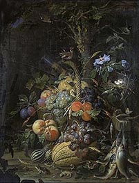 Abraham Mignon | The Fruit Basket | Giclée Canvas Print