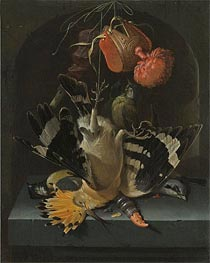Abraham Mignon | Still Life with a Hoopoe | Giclée Canvas Print