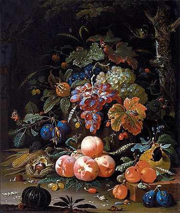 Still Life with Fruits, undated | Abraham Mignon | Painting Reproduction