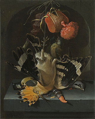 Still Life with a Hoopoe, undated | Abraham Mignon | Painting Reproduction