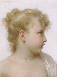 Bouguereau | Head of a Little Girl | Giclée Canvas Print