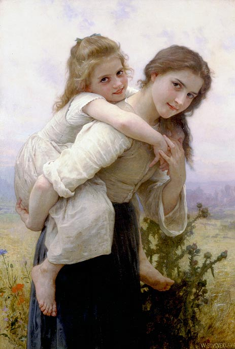 Not too Much to Carry, 1895 | Bouguereau | Giclée Canvas Print