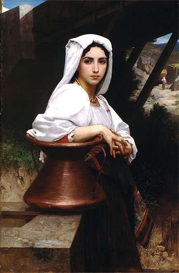 Italian Girl Drawing Water, 1871 | Bouguereau | Giclée Canvas Print