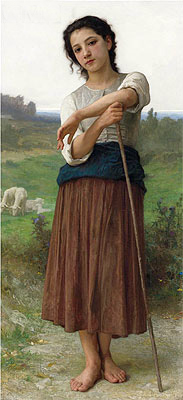 Young Shepherdess, 1887 | Bouguereau | Giclée Canvas Print