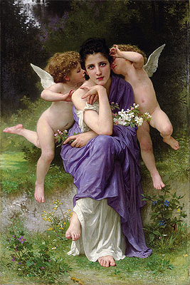Songs of Spring, 1889 | Bouguereau | Painting Reproduction