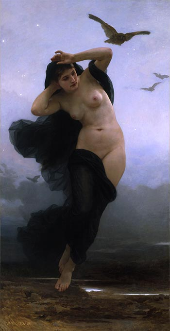 Night, 1883 | Bouguereau | Giclée Canvas Print