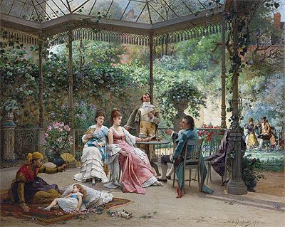 The Attentive Guests, 1876 | Adrien de Boucherville | Giclée Canvas Print