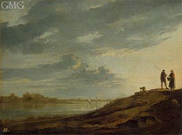 Aelbert Cuyp | Sunset over the River | Giclée Canvas Print