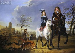 Aelbert Cuyp | Lady and Gentleman on Horseback | Giclée Canvas Print
