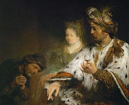 Aert de Gelder | Mordechai is Honored by King Ahasuerus of Persia, c.1683 | Giclée Canvas Print