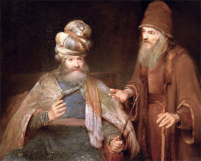 Nathan admonishes King David, 1683 | Aert de Gelder | Painting Reproduction