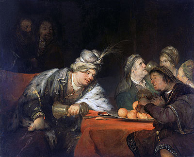 Aert de Gelder | The Banquet of Ahasuerus, 1680s | Giclée Canvas Print