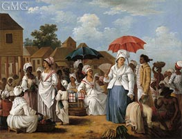 Agostino Brunias | The Linen Market, Santo Domingo, c.1775 | Giclée Canvas Print