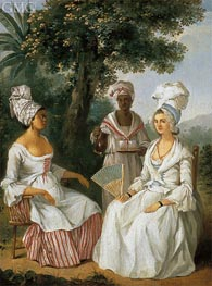 Agostino Brunias | Creole Woman and Servants, c.1770/80 | Giclée Canvas Print