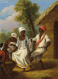 Agostino Brunias | The Handkerchief Dance, c.1770/80 | Giclée Canvas Print