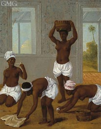 Agostino Brunias | Caribbean Indian Woman in an Interior, St. Vincent | Giclée Canvas Print