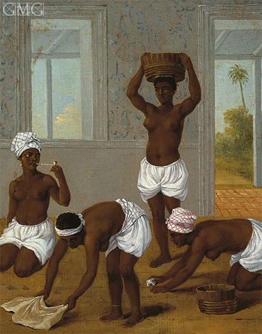 Caribbean Indian Woman in an Interior, St. Vincent, c.1770/80 | Agostino Brunias | Giclée Canvas Print