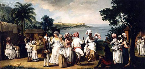 West Indian Village with Figures Dancing, undated | Agostino Brunias | Giclée Canvas Print