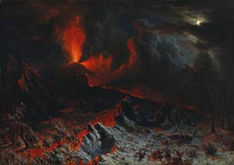 Bierstadt | Mount Vesuvius at Midnight | Giclée Canvas Print