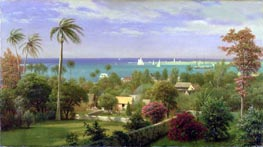 Bierstadt | Panoramic View of the Harbour at Nassau in the Bahamas, undated | Giclée Canvas Print