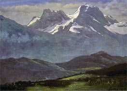 Bierstadt | Summer Snow on the Peaks or Snow Capped Mountains, indated | Giclée Canvas Print