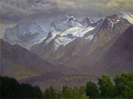 Bierstadt | In the High Mountains, indated | Giclée Canvas Print
