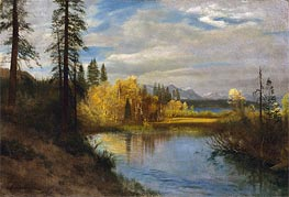 Bierstadt | Outlet at Lake Tahoe, indated | Giclée Canvas Print
