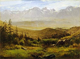 Bierstadt | In the Foothills of the Rockies , undated | Giclée Canvas Print
