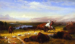 Bierstadt | The Last of the Buffalo, 1888 | Giclée Canvas Print