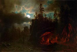 Bierstadt | The Trappers' Camp, 1861 | Giclée Canvas Print