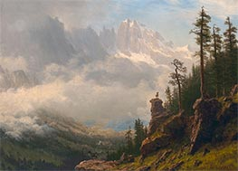 Bierstadt | Sierra Nevada Mountains in California | Giclée Canvas Print