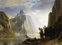 Bierstadt | A Lake in the Sierra Nevada, 1867 | Giclée Canvas Print