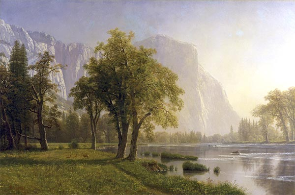 El Capitan, Yosemite Valley, California, 1875 | Bierstadt | Giclée Canvas Print