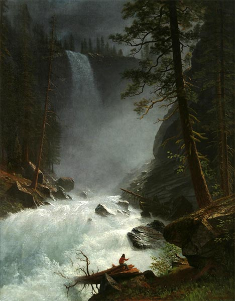 A Stream in the Rocky Mountains, 1882 | Bierstadt | Giclée Canvas Print