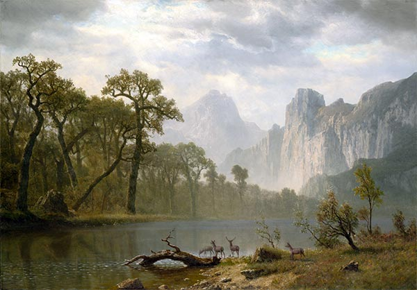 In the Yosemite Valley, 1866 | Bierstadt | Giclée Canvas Print