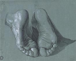Durer | Study of Two Feet | Giclée Canvas Print