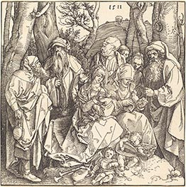 Durer | The Holy Family with Two Music-Making Angels, 1511 | Giclée Paper Print
