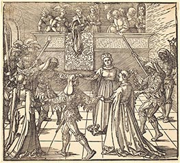 Durer | Masquerade Dance with Torches, c.1516 | Giclée Paper Print