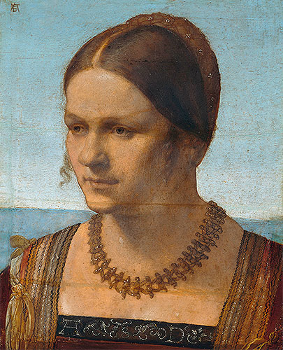 Portrait of a Young Venetian Lady, 1506 | Durer | Giclée Canvas Print