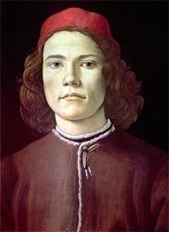Botticelli | Portrait of a Young Man | Giclée Canvas Print