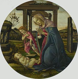 Botticelli | The Virgin and Child with Saint John the Baptist, c.1482/98 | Giclée Canvas Print